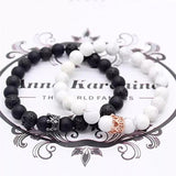 King and Queen Couple Bracelet Set (8 MM) - The Magic Moon Garden