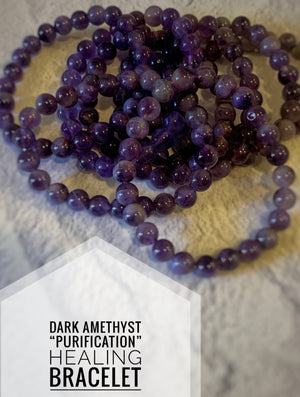 "Dark Amethyst ""Cleansing"" Healing Bracelet (8 MM)"