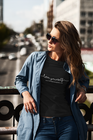 Love Yourself Affirmation Inspirational Ladies' Scoopneck T-Shirt - The Magic Moon Garden