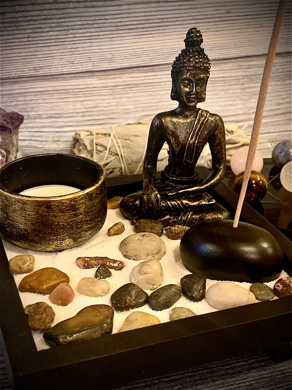 Namaste Buddha Zen Garden - The Magic Moon Garden