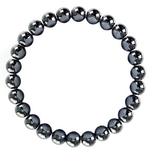 Hematite Bracelet (8MM, 10MM, 12MM, 14MM) EMF Protector - The Magic Moon Garden