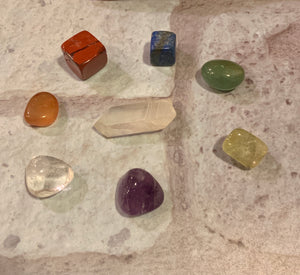 8 PC - 7 Chakra Healing Stone Set - The Magic Moon Garden