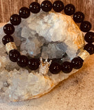 King & Queen Black Onyx Protection Couples Bracelet - The Magic Moon Garden