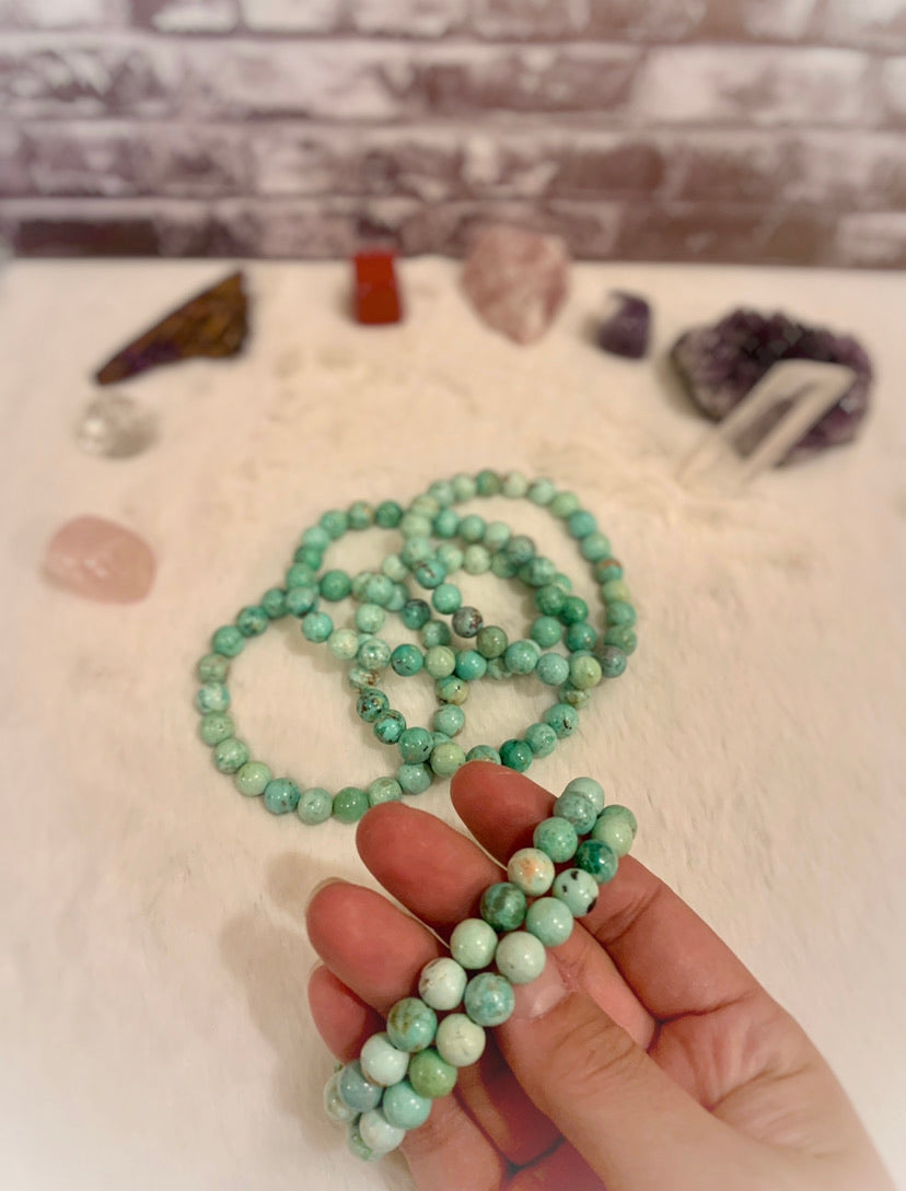 "The ""Blissful"" Peruvian Turquoise Healing Bracelet (8MM)"