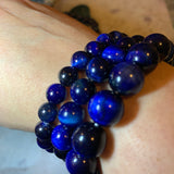 Blue Tiger Eye Healing Bracelet (8 MM/10 MM/12 MM) - The Magic Moon Garden