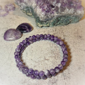 The Dreamy Amethyst Healing Bracelet (6MM)
