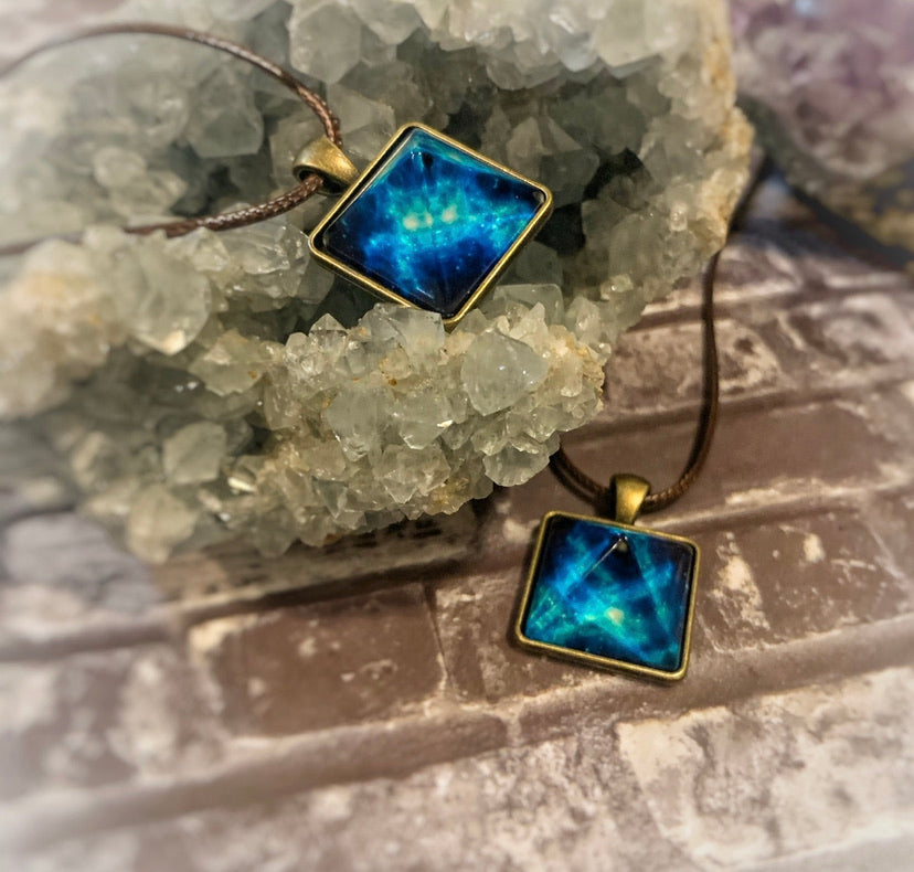 Blue Orgone Powerful Glow Energy Healing Pendant