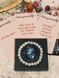 """Stand up for what you believe in"" Aquamarine Bracelet / Ring - The Magic Moon Garden"