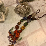 7 Chakra Gemstone Healing Hanging Tassel - The Magic Moon Garden