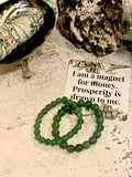 "The ""Stone of Opportunity""  - Aventurine Healing Bracelet (8MM) - The Magic Moon Garden"