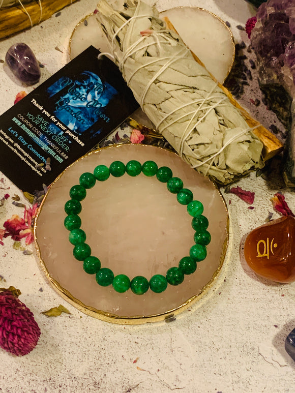 The Self-Worth Healing Jade Bracelet (8MM) - The Magic Moon Garden