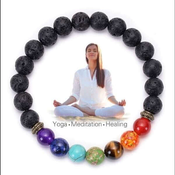 7 Chakra Diffuser Bracelet (8MM) - The Magic Moon Garden