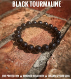 "Black Tourmaline ""Disinfectant for the Soul"" Healing Bracelet - The Magic Moon Garden"
