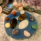 Worry/Thumb Stone Plus Chakra Gemstone Meditation Set - The Magic Moon Garden