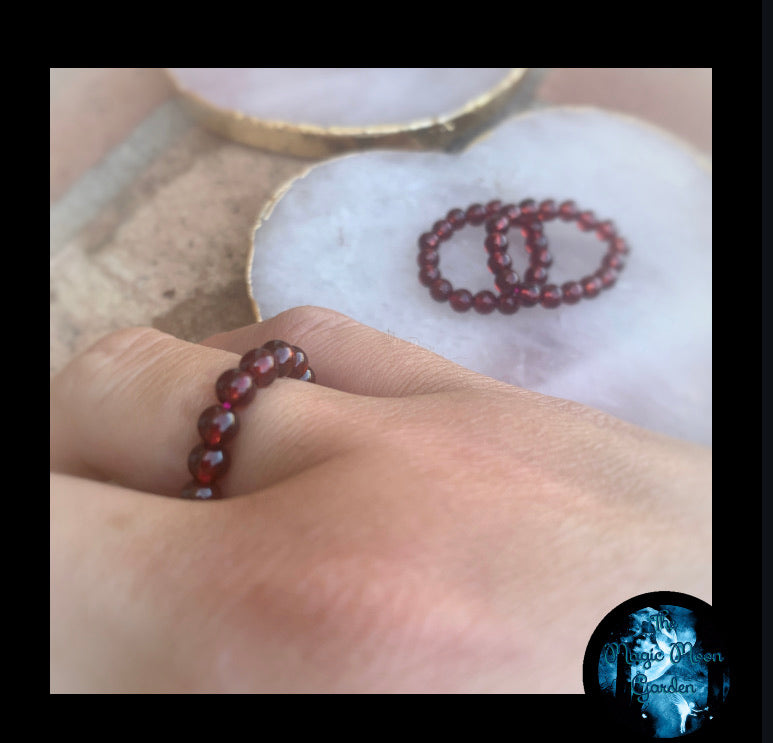"Garnet ""Feel Good "" Energy Healing Rings"