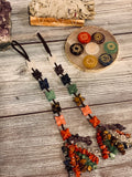 High Vibrational Geometric 7 Chakra Hanging Meditation Tassel - The Magic Moon Garden