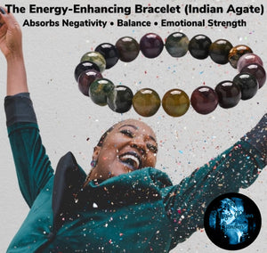 Indian Agate Emotional Strength Healing Bracelet (size 8mm & 10mm) - The Magic Moon Garden