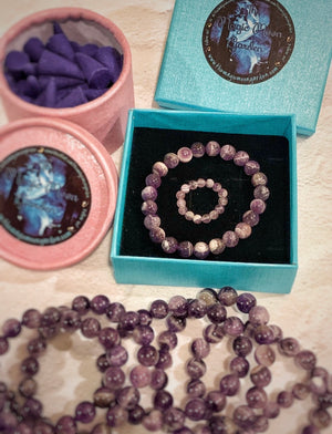 The Dreamy Amethyst Healing Bracelet (8MM) - The Magic Moon Garden