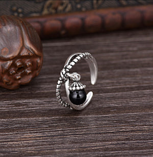 The Freedom Ring (Black Agate)