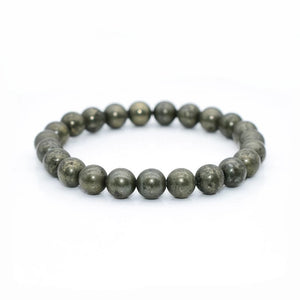 "Pyrite ""Fools Gold"" Bracelet (8MM & 10MM) - The Magic Moon Garden"