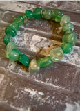 "Irregular shaped Green Agate ""Energy Healer"" Chunky Bracelet - The Magic Moon Garden"