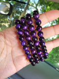 "The ""Leveling UP"" Purple Tiger Eye Bracelets (8MM) - The Magic Moon Garden"