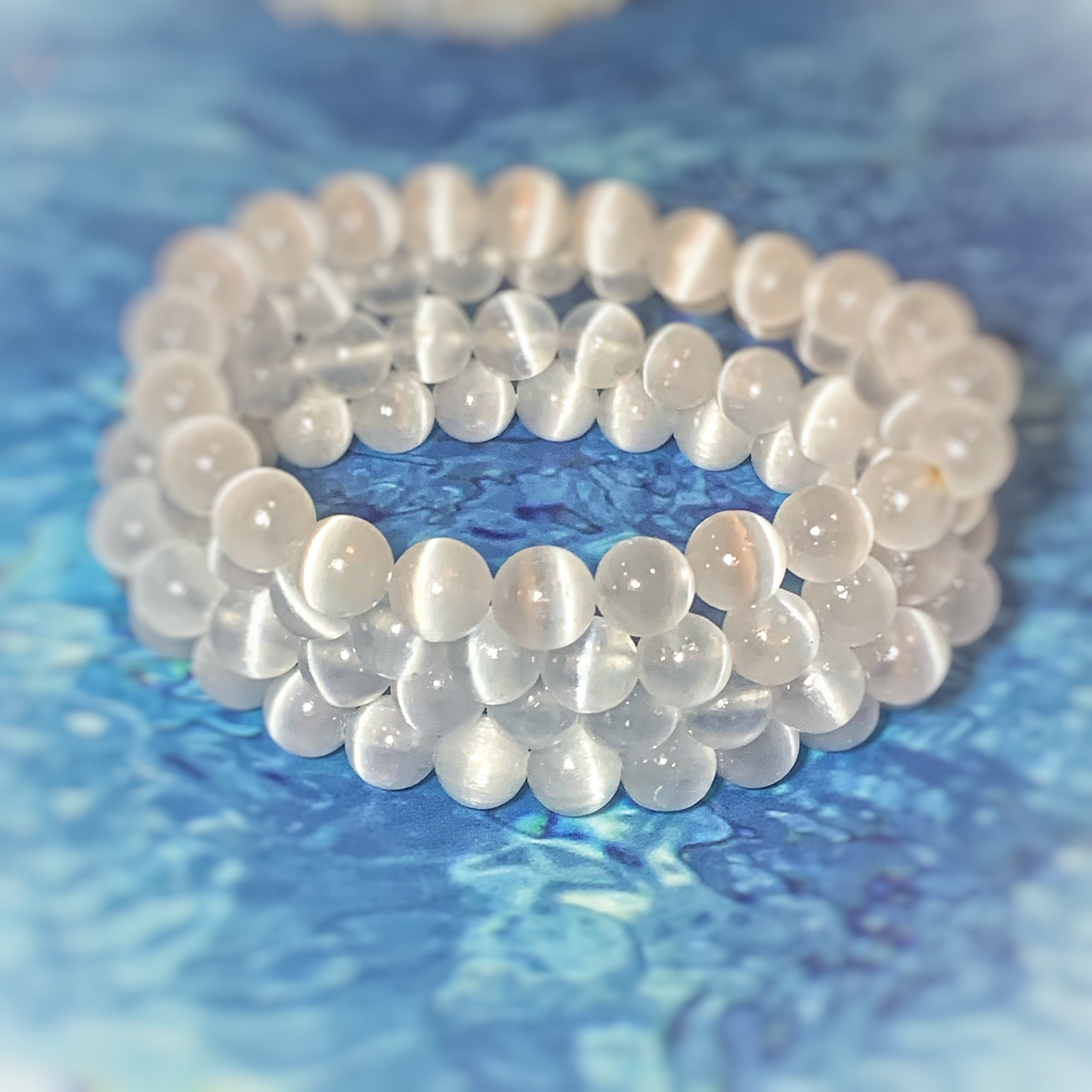 "The ""Pure Angelic"" Selenite Healing Bracelet (8MM)"