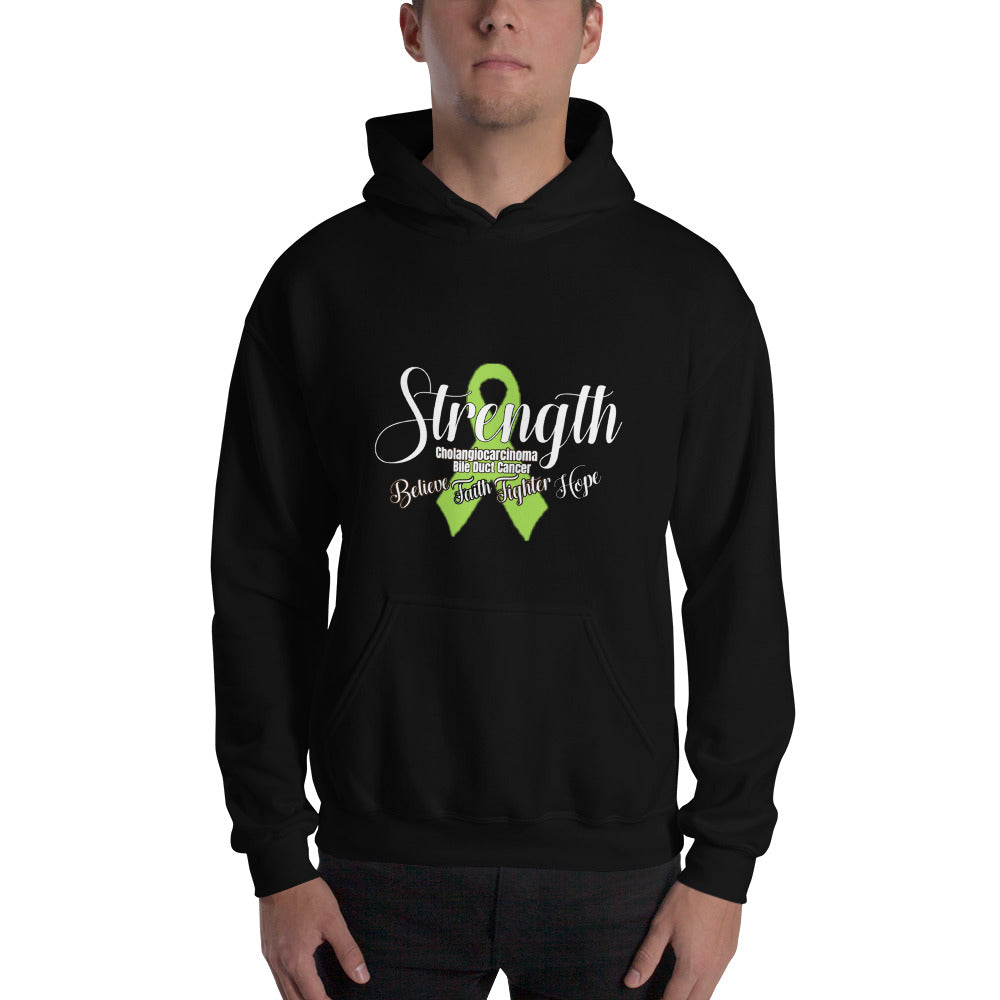 """Strength"" Cholangiocarcinoma Bile Duct Cancer Awareness Hoodie - The Magic Moon Garden"