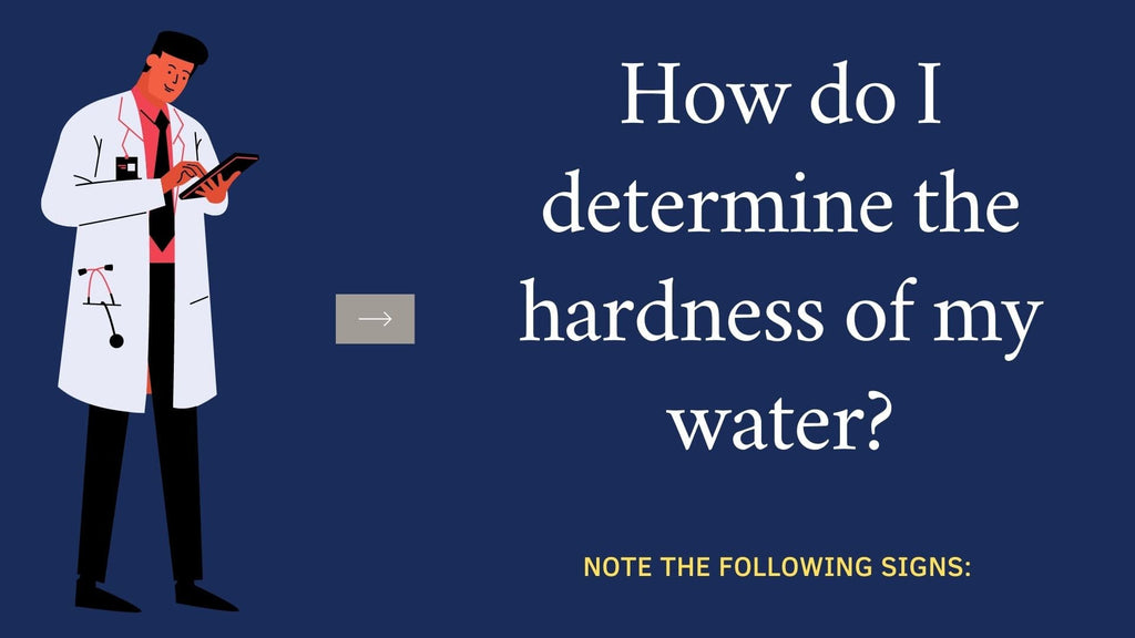 How do I determine the hardness of my water