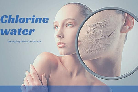 Chlorine water damaging effect on the skin