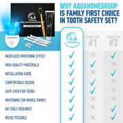 Whitening Teeth Kit with LED Light - Deluxe  with Charcoal Toothpaste and Brushes