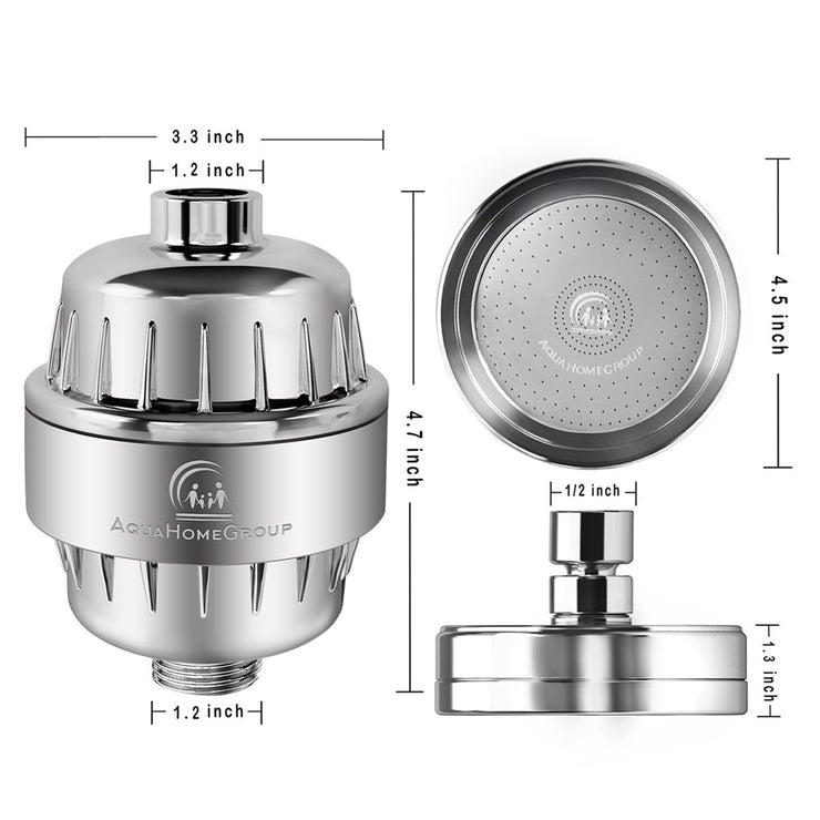 Shower Water Filter (15 Stage) with Vitamin C