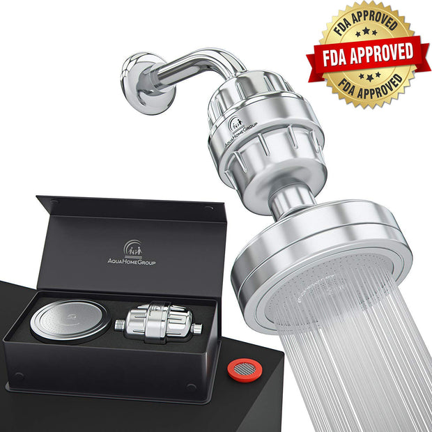 Filter Shower Head Set With Vitamin C+E, 15 Stage, For hard water - aquahomegroup