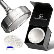 Chloramine Shower Head With Filter Vitamin C High Pressure Rain - aquahomegroup