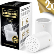 15-Stage Premium Replacement Cartridge for Shower Filter 2-Pack