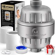 15 Stage Shower Water Filter Ceramic Balls with Vitamin C For Hard Water - aquahomegroup