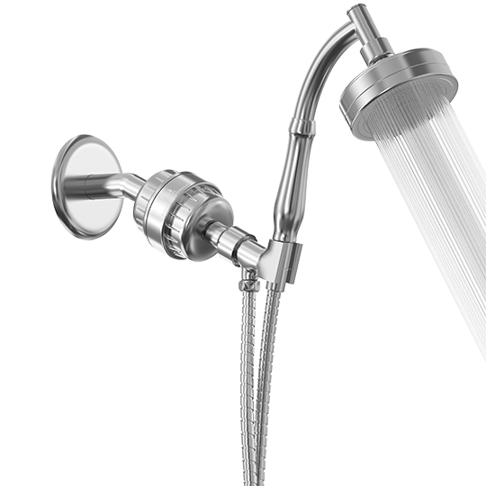 Filtered Handheld Shower Head - 15 Stage, Vitamin C + E - SPA Effect - aquahomegroup