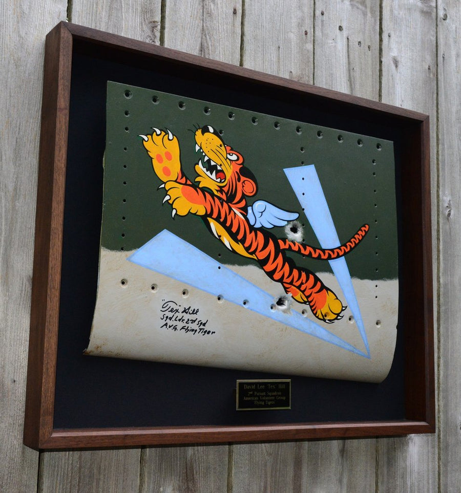 Signed AVG 'FLYING TIGER' on Aluminum