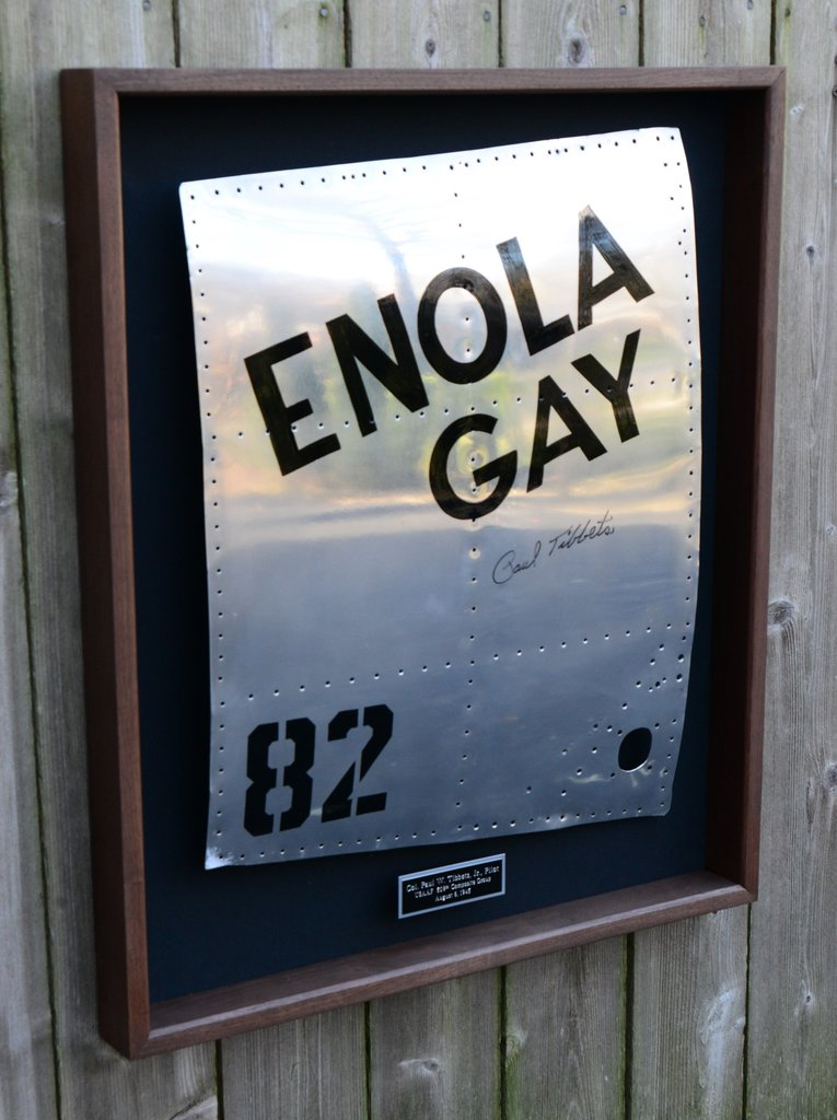 Signed ENOLA GAY Nose-Art on Aluminum