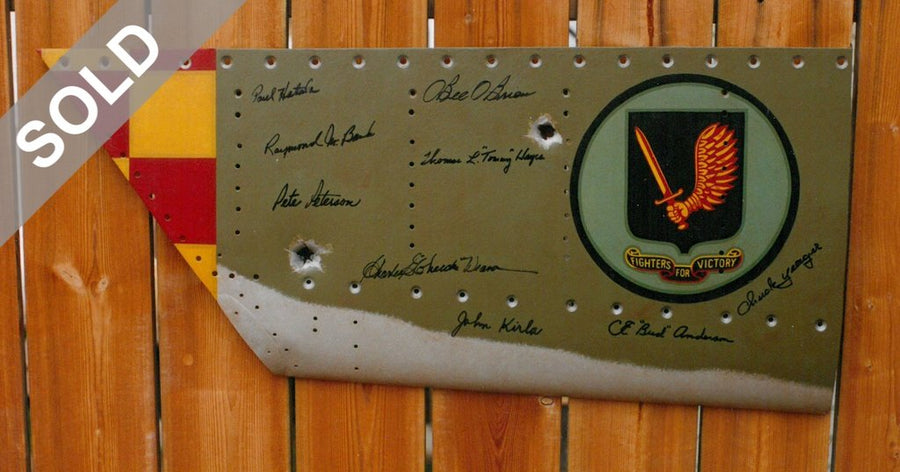 Signed 357th FIGHTER GROUP Insignia on Aluminum