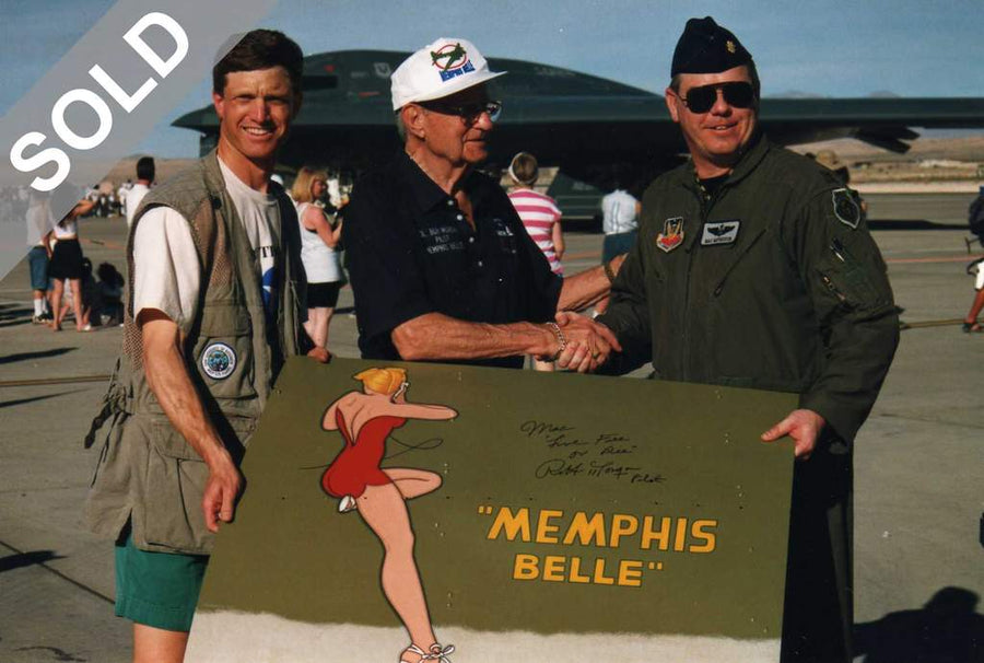 (SOLD) Signed MEMPHIS BELLE on Aluminum