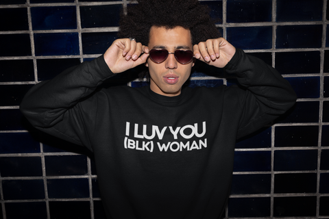 I LUV YOU (BLK) WOMAN Sweatshirt