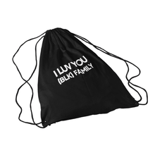 Load image into Gallery viewer, I LUV YOU (BLK) Drawstring Bag