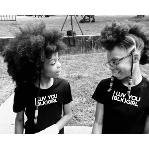 I LUV YOU (BLK) GIRL T-Shirt
