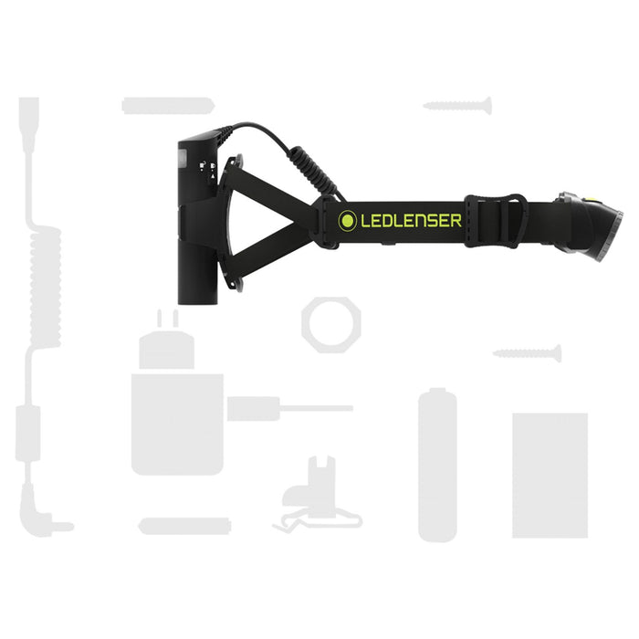 1 battery pack, chest strap, USB cable, extension cable