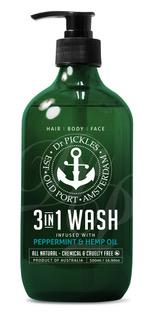 Dr Pickles 3-in-1 Peppermint & Hemp Body Wash 500ml
