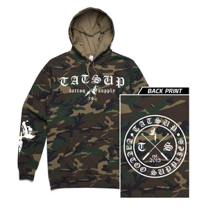Tatsup - Camo Old English Hoodie