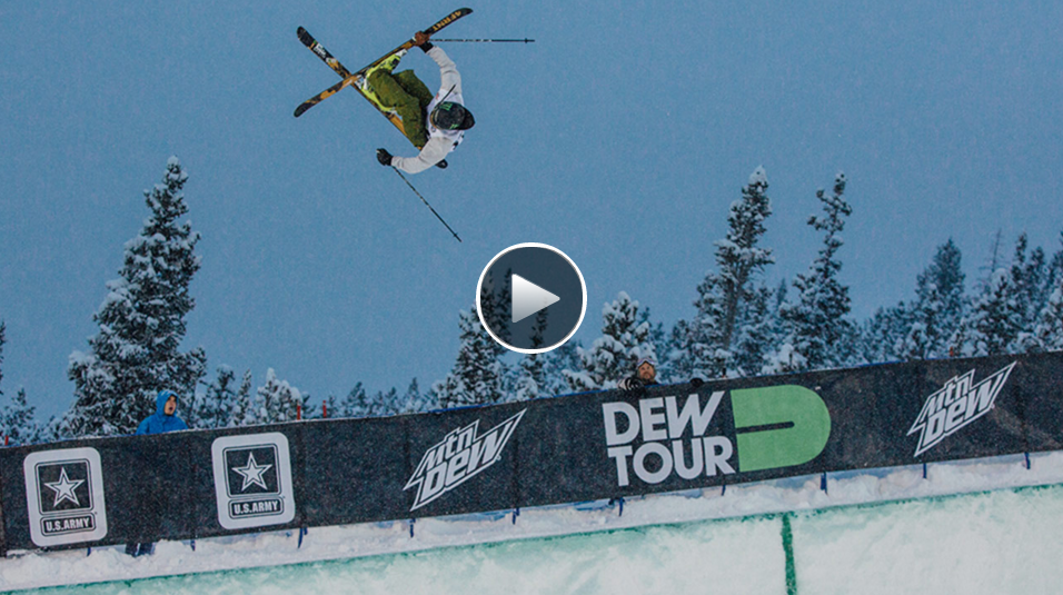 David Wise Wins Superpipe Event at Dew Tour Breckenridge