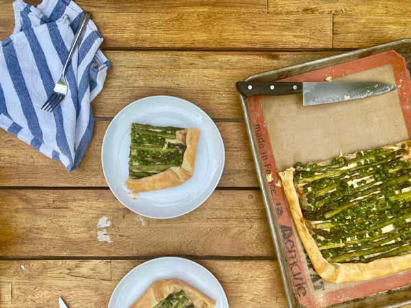 Asparagus and Spring Pea Galette - Illuminate Food