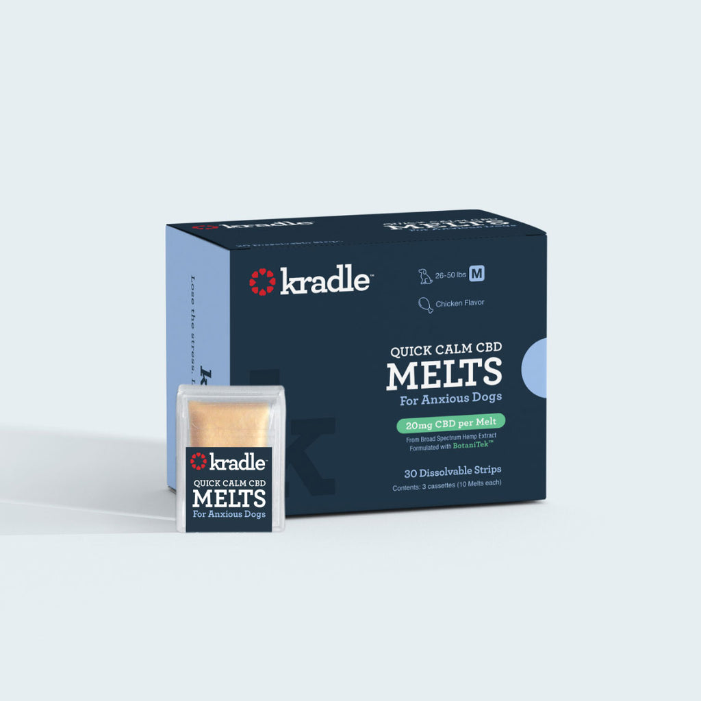 Kradle Quick Calm CBD melts for anxious dogs